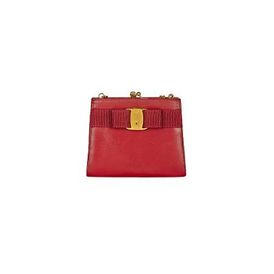 mini shoulder bag red